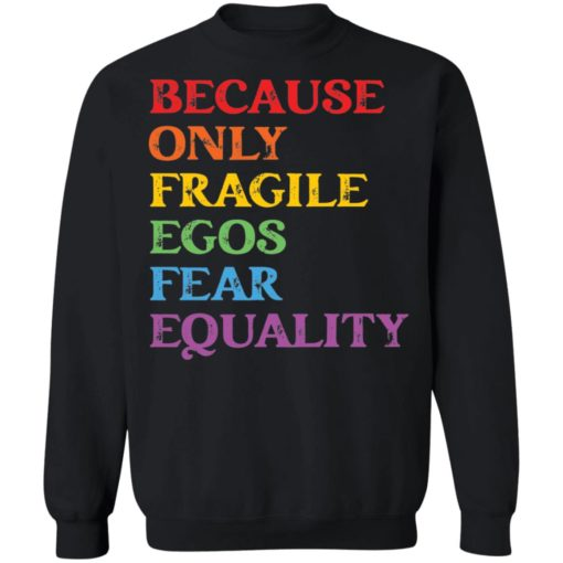 Because only fragile egos fear equality shirt $19.95 redirect05312021230553 8