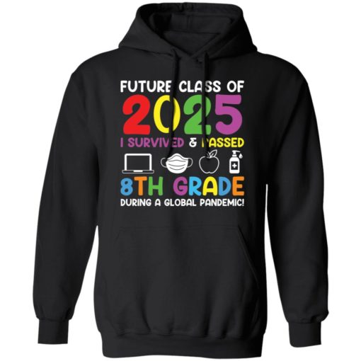 Future class of 2025 i survived and passed 8th grade shirt $19.95 redirect06012021040602 6