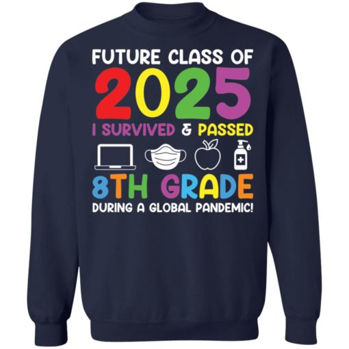 Future class of 2025 i survived and passed 8th grade shirt $19.95 redirect06012021040602 9