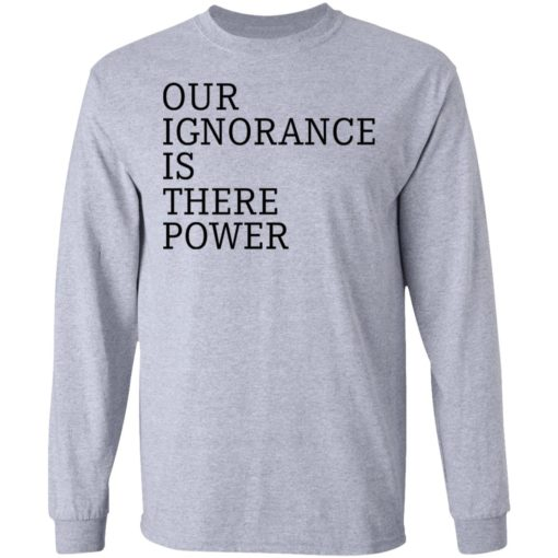 Our ignorance is the power shirt $19.95 redirect06172021020601 2