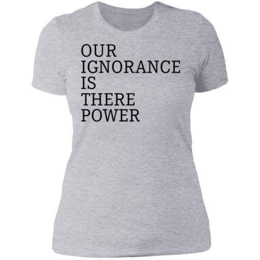 Our ignorance is the power shirt $19.95 redirect06172021020601 8