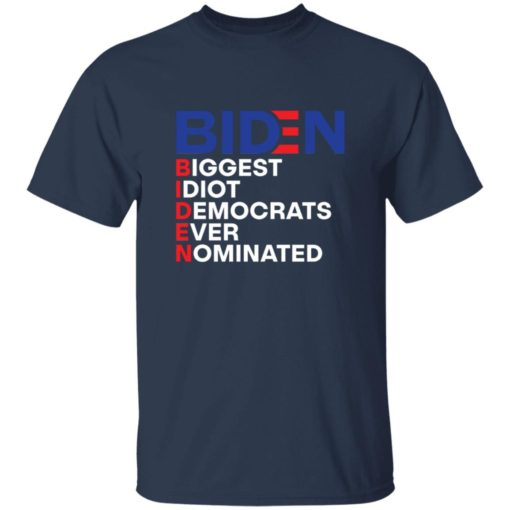 Biden idiot biggest democrats ever nominated shirt $19.95 redirect06212021090605 4