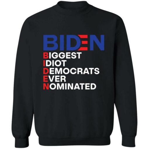Biden idiot biggest democrats ever nominated shirt $19.95 redirect06212021090605 9