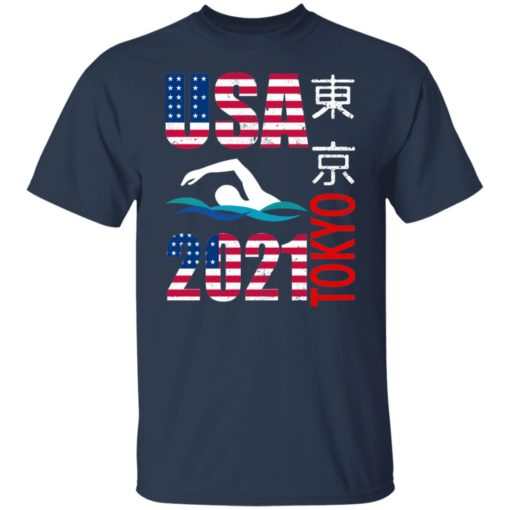 Tokyo 2021 swimming American US flag shirt $19.95 redirect06222021040646 1