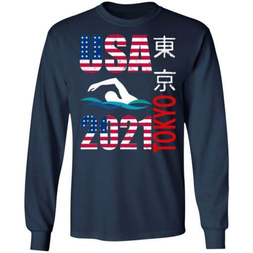 Tokyo 2021 swimming American US flag shirt $19.95 redirect06222021040646 3