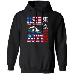 Tokyo 2021 swimming American US flag shirt $19.95 redirect06222021040646 4
