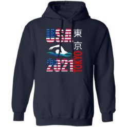 Tokyo 2021 swimming American US flag shirt $19.95 redirect06222021040646 5