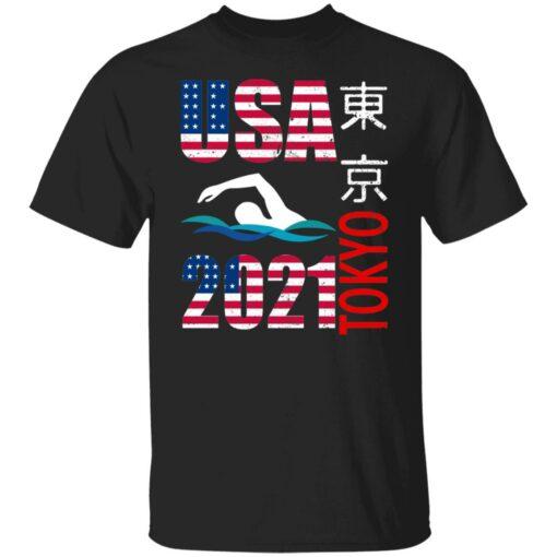 Tokyo 2021 swimming American US flag shirt $19.95 redirect06222021040646