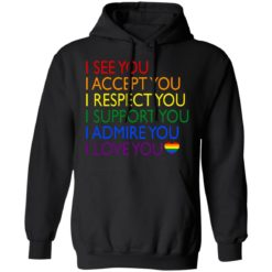 Pride LGBT i see you i accept you i respect you shirt $19.95 redirect06232021040617 4