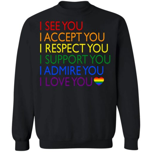 Pride LGBT i see you i accept you i respect you shirt $19.95 redirect06232021040617 6