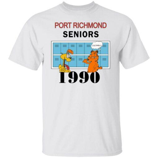Garfield Port Richmond seniors 1990 shirt $19.95 redirect06262021230618