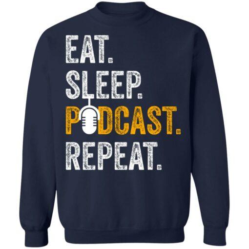 Eat sleep podcast pepeat shirt $19.95 redirect06282021000647 7