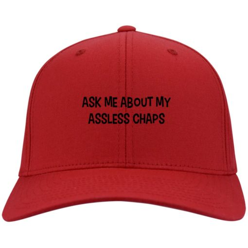 Ask me about my assless chaps hat, cap $24.75 redirect06302021030636 2