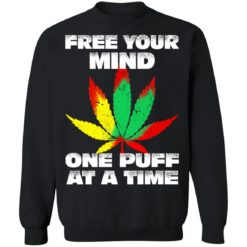 Cannabis free your mind one puff at a time shirt $19.95 redirect07022021100746 6