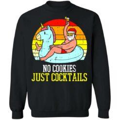 No cookies just cocktails Santa unicorn shirt $19.95 redirect07122021030703 6