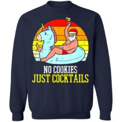 No cookies just cocktails Santa unicorn shirt $19.95 redirect07122021030703 7