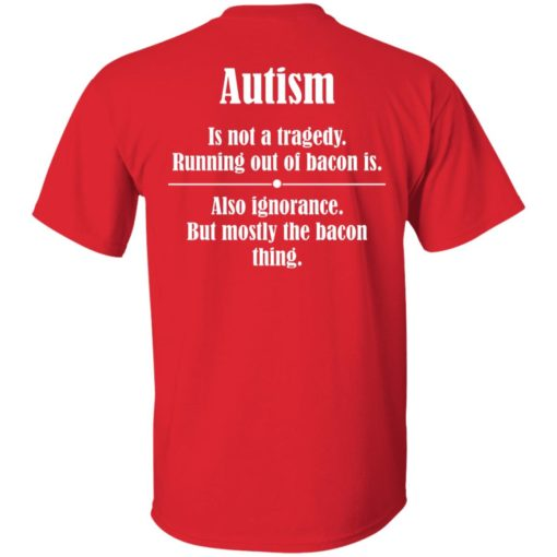 Autism is not a tragedy running out of bacon is shirt $19.95 redirect07142021230729 1