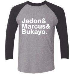 Jadon Marcus Bukayo Tri-Blend 3/4 Sleeve T-Shirt $26.95 redirect07162021100731 3
