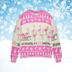 Flamingo I'm Dreaming Of A Pink Christmas sweater